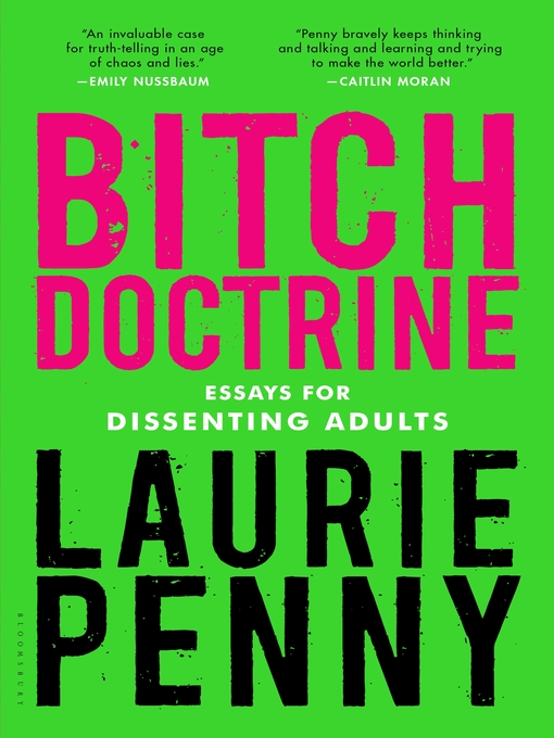 Title details for Bitch Doctrine by Laurie Penny - Wait list