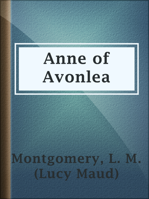 תמונה של  Anne of Avonlea