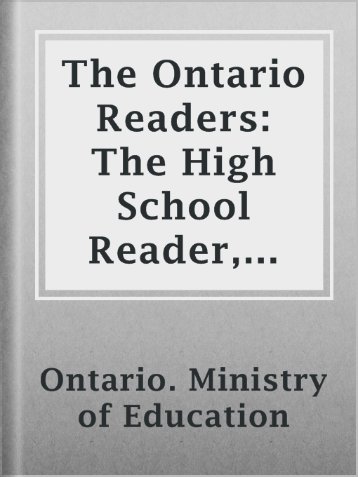 Cover of The Ontario Readers: The High School Reader, 1886
