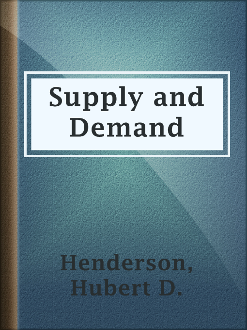 supply and demand and english literature Translation and definition on-demand report, dictionary english  must provide automatic and on demand report to  report on supply and demand,.