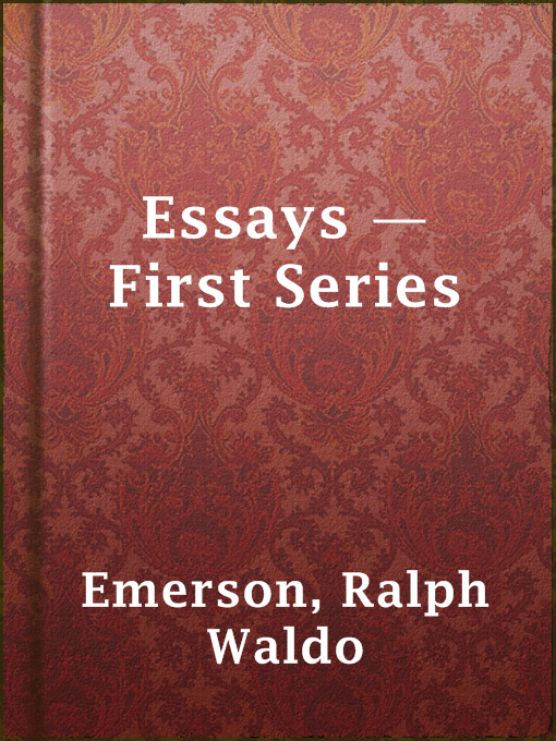 essays first series publisher