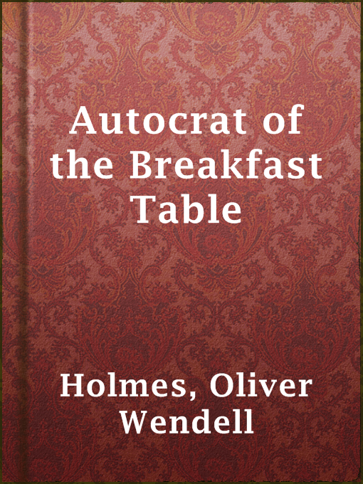 Cover of Autocrat of the Breakfast Table