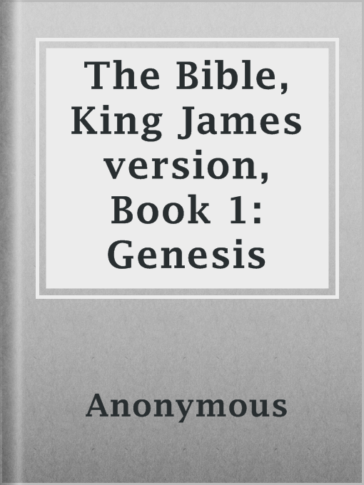 king james version of the bible genesis pdf