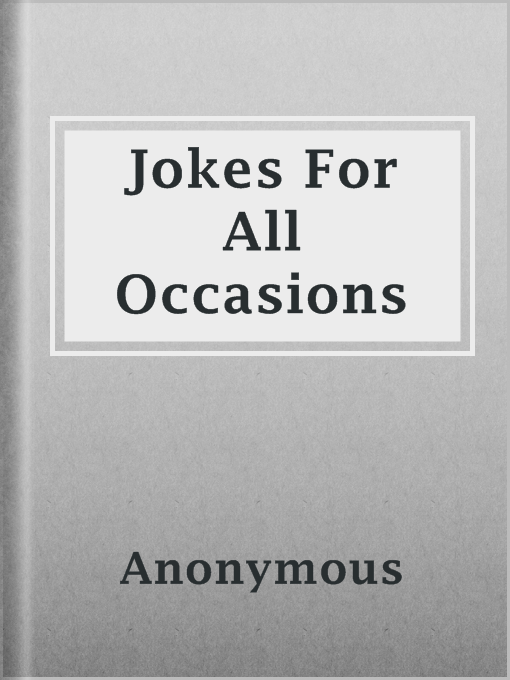 Title details for Jokes For All Occasions by Anonymous - Available
