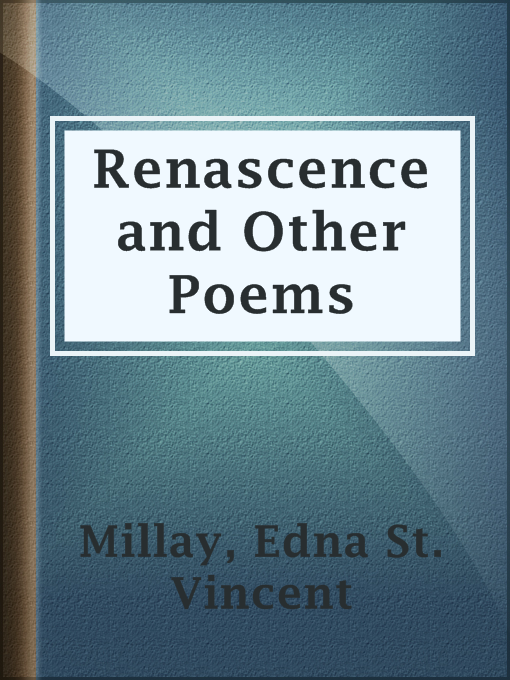 Cover of Renascence and Other Poems