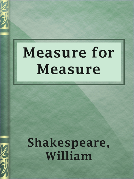 Title details for Measure for Measure by William Shakespeare - Available