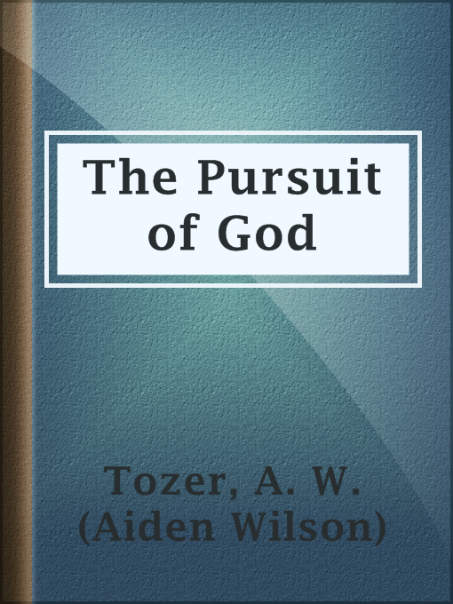 Cover of The Pursuit of God