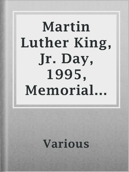 Title details for Martin Luther King, Jr. Day, 1995, Memorial Issue by Various - Available
