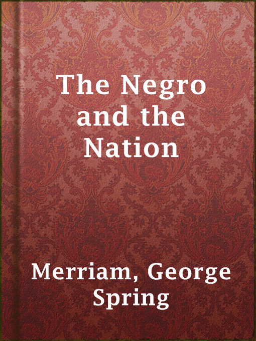 Cover of The Negro and the Nation