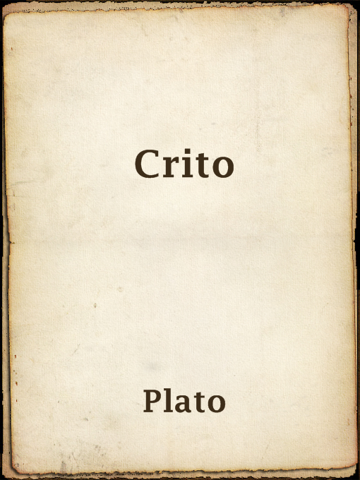 platos crito essay The apology, along with crito, are just a number of texts written by plato on the teachings and beliefs held by socrates haven't found the essay you want.