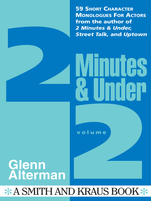 Title details for 2 Minutes & Under, Volume 2 by Glenn Alterman - Available