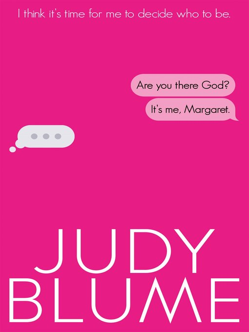 Title details for Are You There, God? It's Me, Margaret by Judy Blume - Wait list