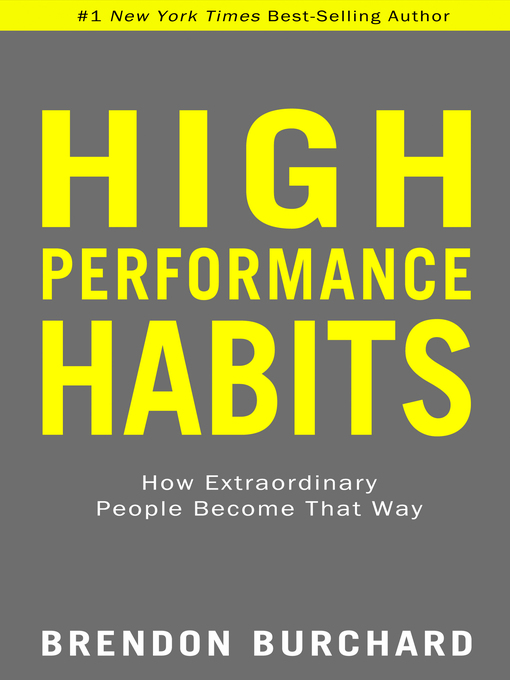 Title details for High Performance Habits by Brendon Burchard - Wait list