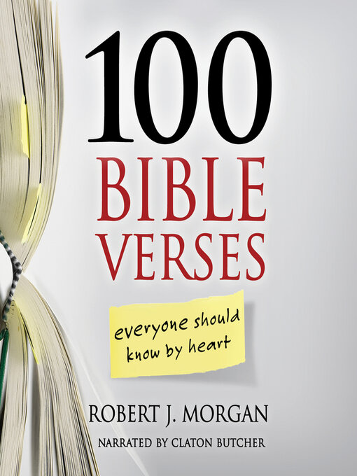 Title details for 100 Bible Verses Everyone Should Know by Heart by Robert J. Morgan - Wait list