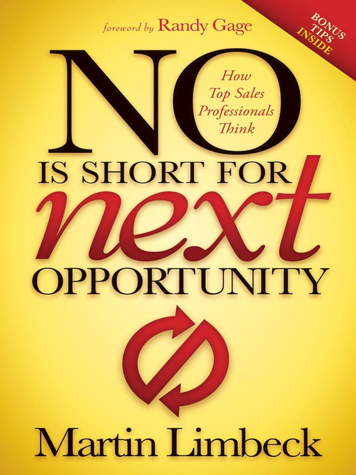 Title details for No Is Short for Next Opportunity by Martin Limbeck - Wait list