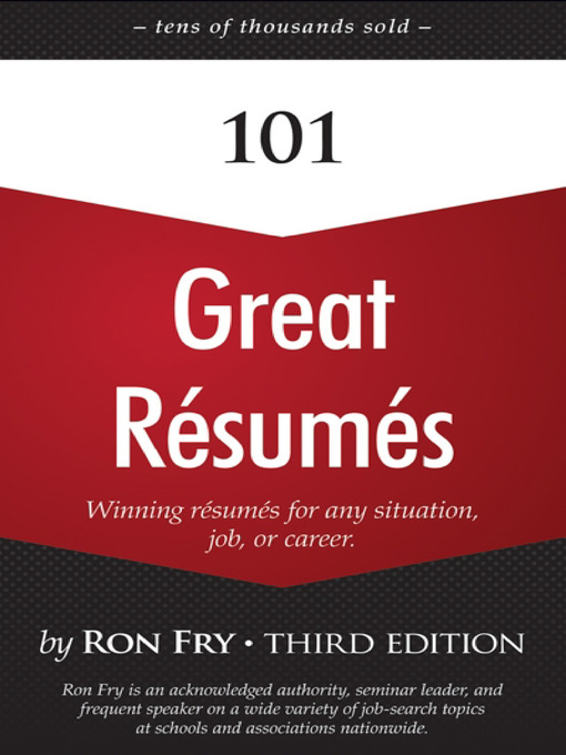 Title details for 101 Great Résumés by Ron Fry - Wait list