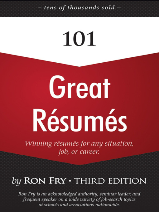 Title details for 101 Great Résumés by Ron Fry - Available