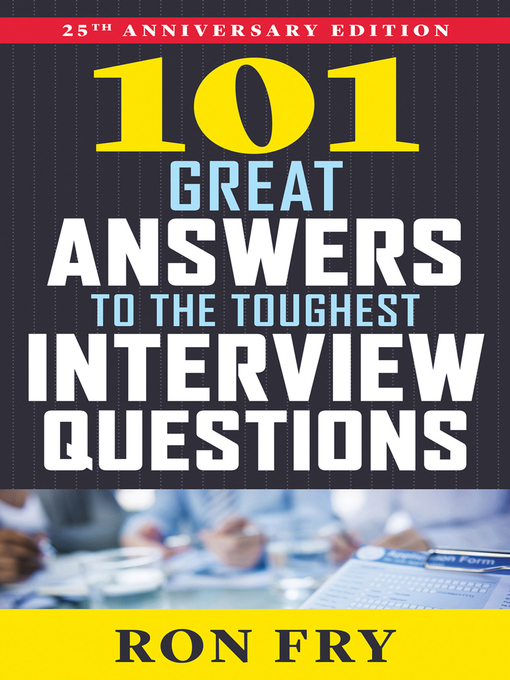 Cover of 101 Great Answers to the Toughest Interview Questions