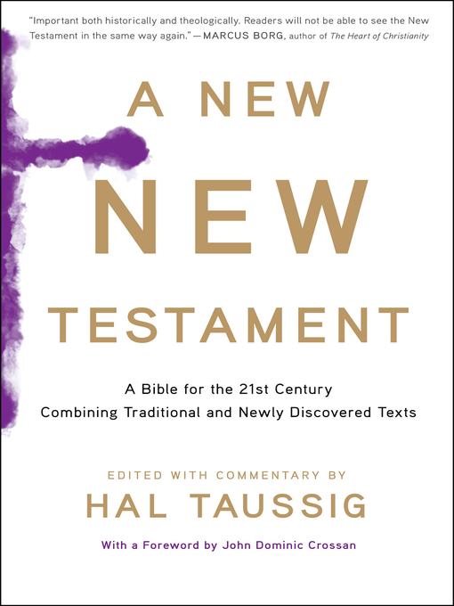 Title details for A New New Testament by Hal Taussig - Available