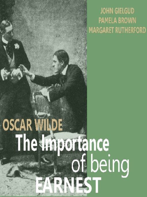 a literary analysis of the importance of being earnest The importance of being earnest homework help questions in the play the importance of being earnest, explain the theme of the dandy (wilde as algernon.