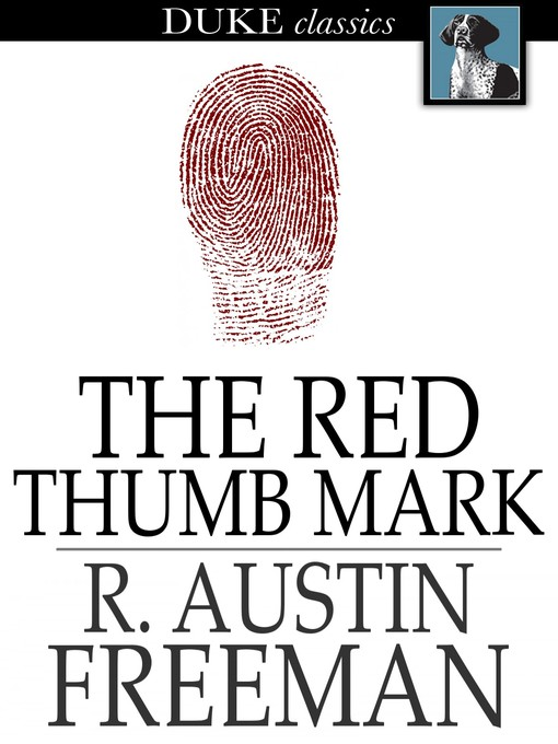 The red thumb mark a Dr. Thorndyke mystery