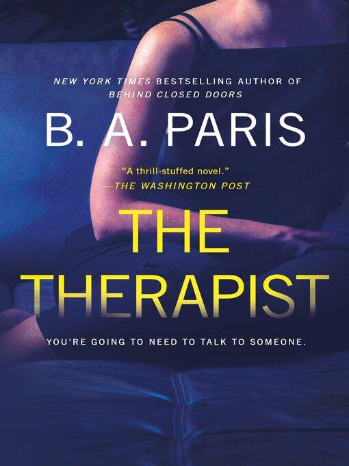 Title details for The Therapist by B. A. Paris - Wait list