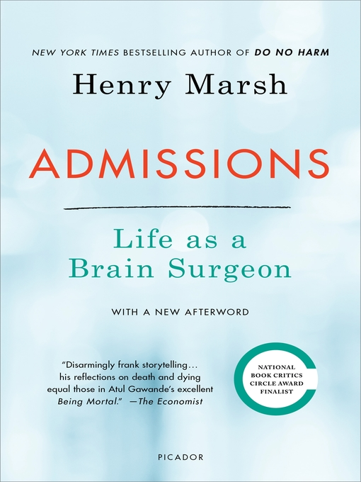 Title details for Admissions by Henry Marsh - Available