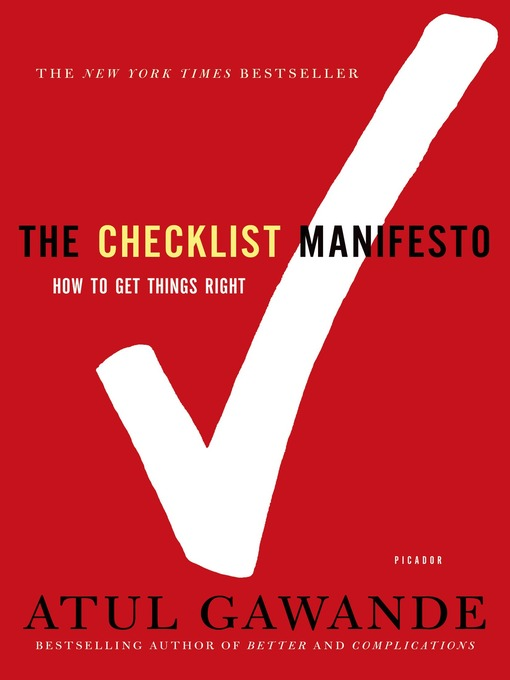 Title details for The Checklist Manifesto by Atul Gawande - Wait list