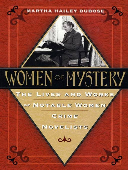Title details for Women of Mystery by Martha Hailey DuBose - Wait list