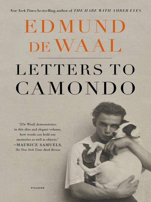 Title details for Letters to Camondo by Edmund de Waal - Wait list