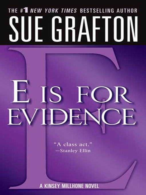 "Title details for ""E"" is for Evidence by Sue Grafton - Wait list"