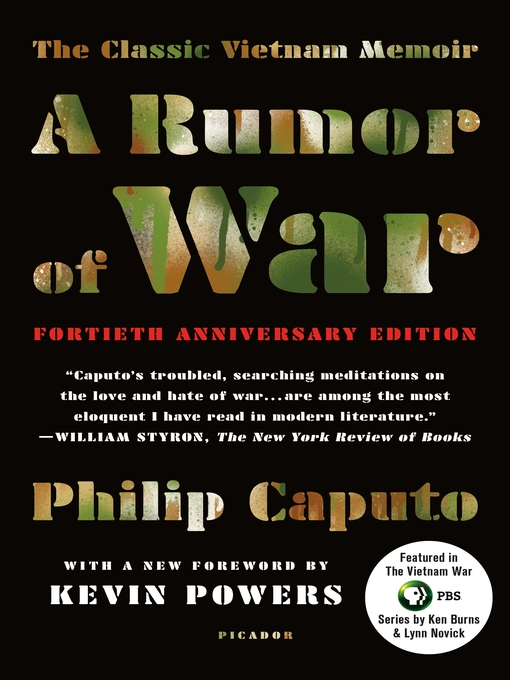 rumor of war by philip caputo essay The lives of those who served in vietnam those who survived were forever altered i just completed philip caputo's a rumor of war,.