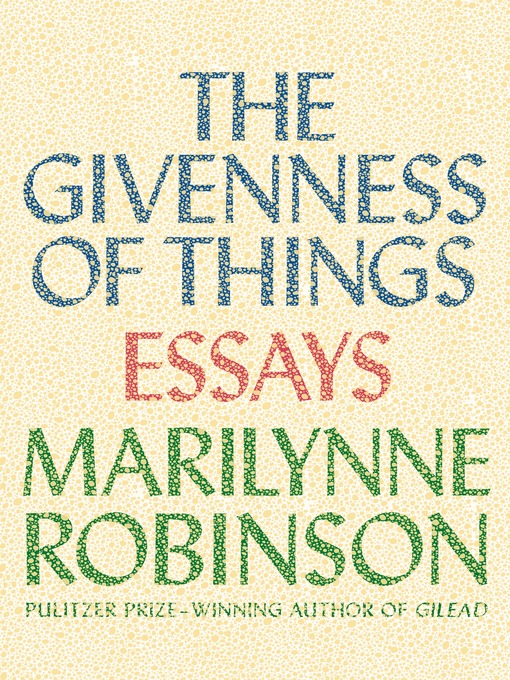 analysis of housekeeping a novel by american novelist and essayist marilyn robinson Listen to this audiobook excerpt from the novel housekeeping  a when i was a child i read books essay marilynne robinson read by the author a new american.