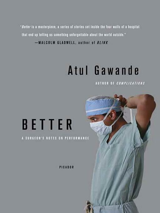 Title details for Better by Atul Gawande - Wait list