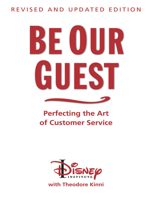 Title details for Be Our Guest by The Disney Institute - Wait list