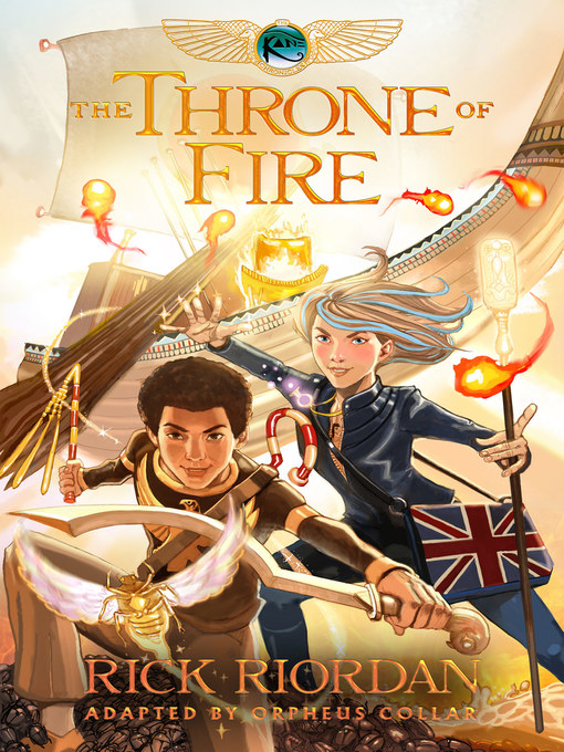 Cover of The Throne of Fire: The Graphic Novel