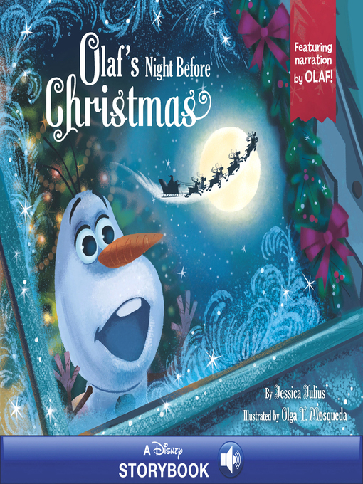 Cover of Olaf's Night Before Christmas: A Disney Read-Along Narrated by Olaf!