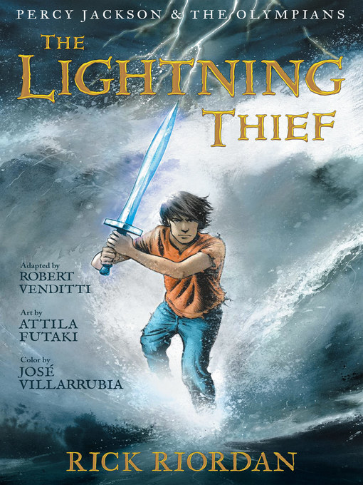 תמונת כריכה של The Lightning Thief: The Graphic Novel