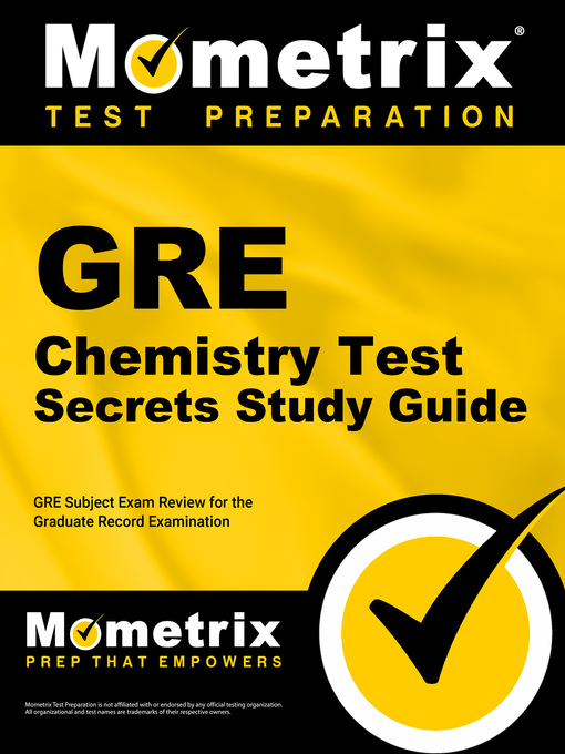 GRE Chemistry Test Secrets Study Guide - Orange County Library