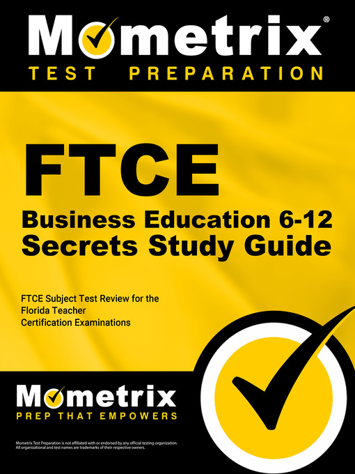Ftce Business Education 6 12 Secrets Study Guide Orange County