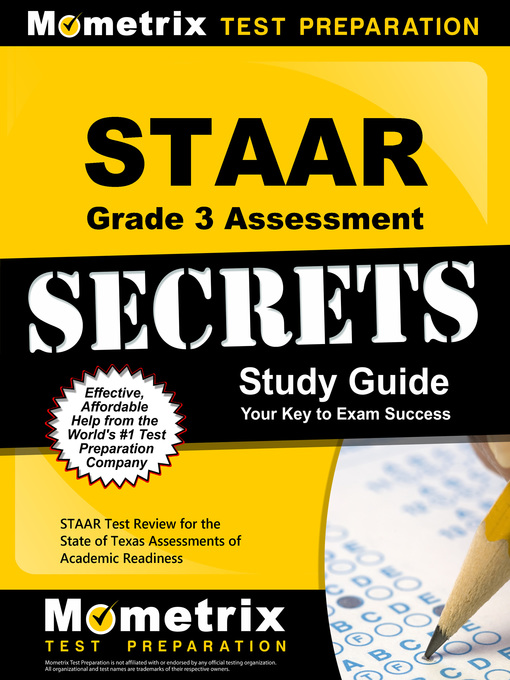 Title details for STAAR Grade 3 Assessment Secrets by STAAR Exam Secrets Test Prep Team - Wait list