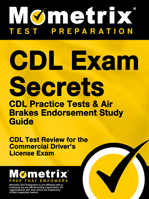 Title details for CDL Exam Secrets - CDL Practice Test Study Guide by CDL Exam Secrets Test Prep Team - Available