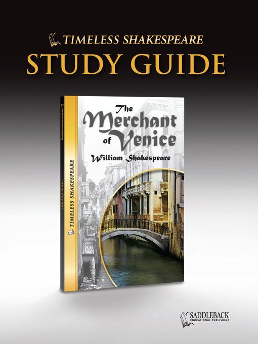 studying the merchant of venice Explore the opening scenes of 'the merchant of venice' act 1 scene by scene study guide profile of portia in shakespeare's 'the merchant of venice'.