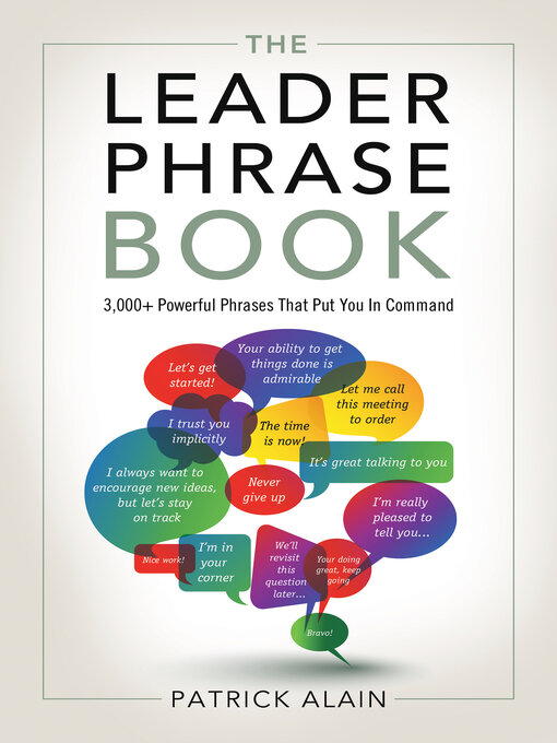 Title details for The Leader Phrase Book by Patrick Alain - Available