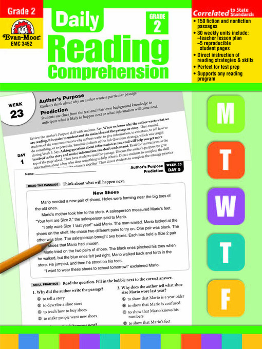 Daily Reading Comprehension Allen County Public Library Overdrive
