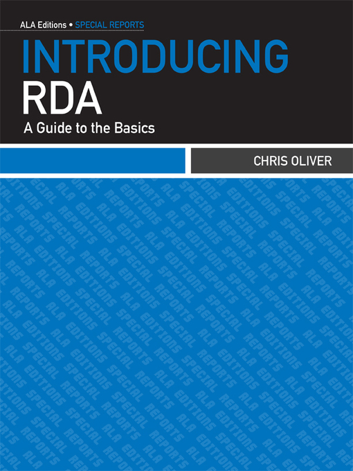 Title details for Introducing RDA by Chris Oliver - Available