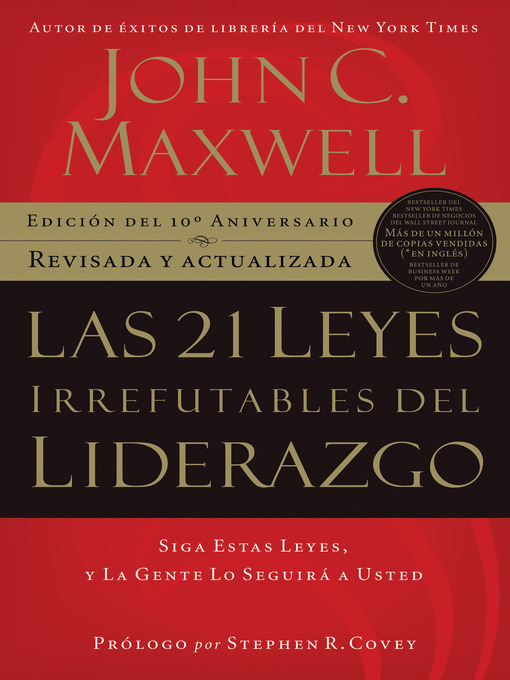 Title details for Las 21 Leyes Irrefutables del liderazgo by John C. Maxwell - Available