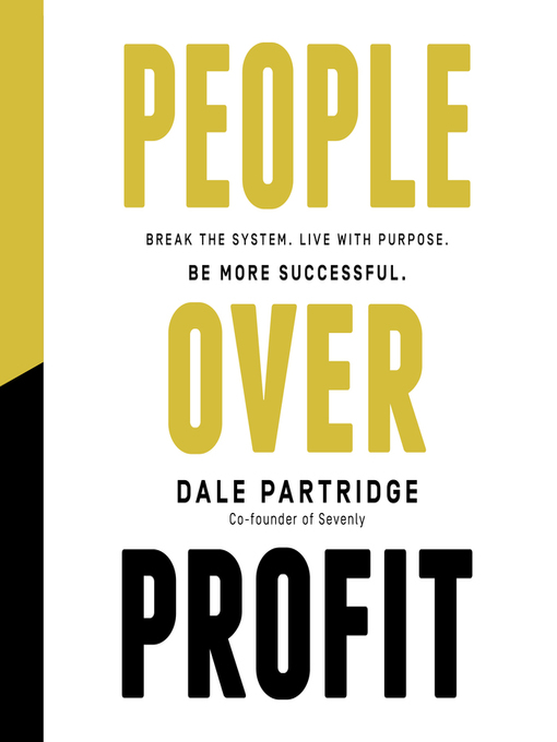 Title details for People Over Profit by Dale Partridge - Available
