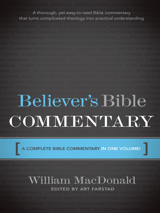 Title details for Believers Bible Commentary by William MACDONALD - Available