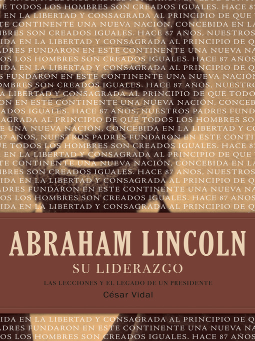 Title details for Abraham Lincoln su liderazgo by César Vidal - Available